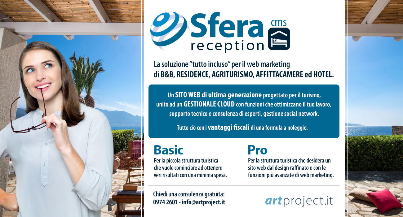 sito web per hotel, bed breakfast, agriturismo, affittacamere